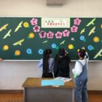 在校生による恩田小学校卒業式の前日準備を行いました